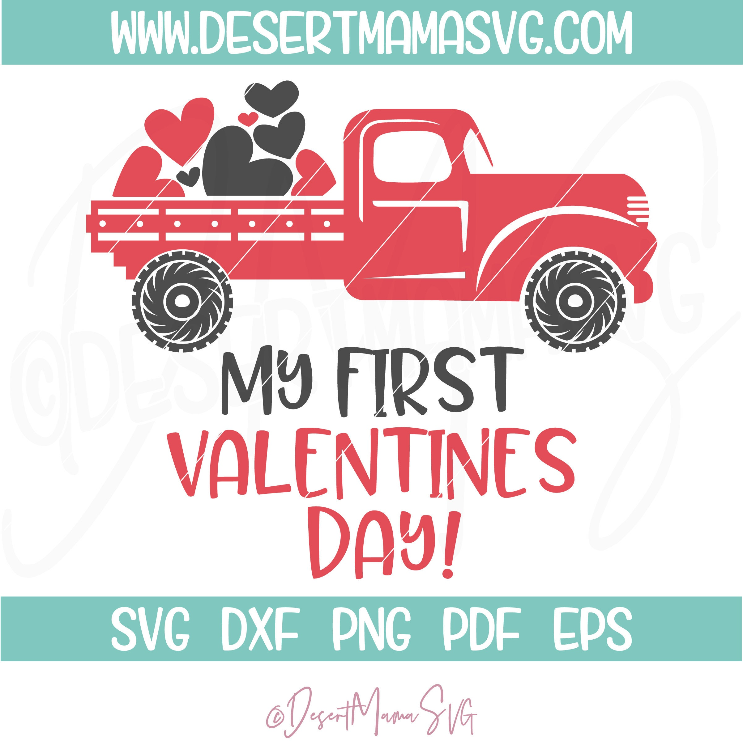 My First Valentines Day Svg Eps Dxf Png Cricut Or Cameo Scan N