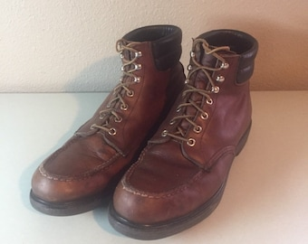 c3b4e3c2409 Vintage Red Wing Brown Irish Setter Leather Lace Up Work Biker Boots Men s  Size 10.5