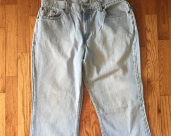 a54b54ad Levi's 515 Light Blue Denim Jeans Boot Cut Low Rise Women's Size 14