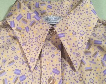 07bf90c63d Vintage Sears Permapress Sleeveless Button Up Blouse Tank Top Women s Size 4