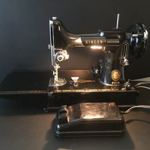 Vintage 40's Singer Featherweight Portable Sewing Etsy Classy 1950 Singer Sewing Machine
