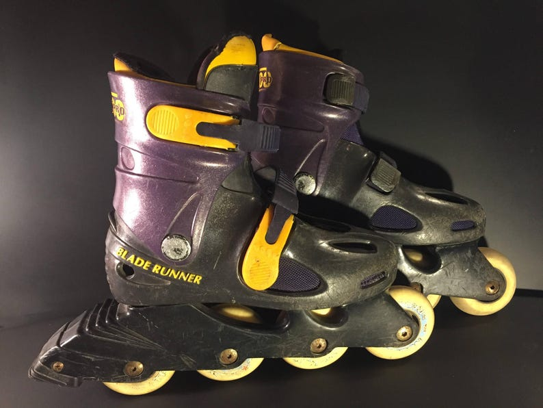 34ccfe46952 Bladerunner 250 Pro Retro Rollerblades Purple Yellow Black   Etsy