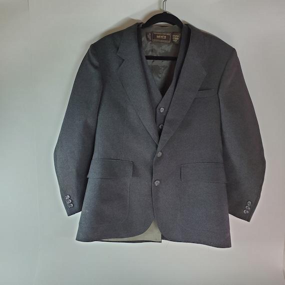 Vintage Mid Century Levi's Blue Grey Actuon Suit B