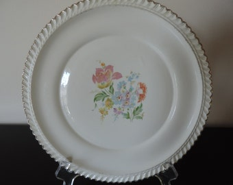 Harker Ware Vintage Autos 6 Side Plates Set of 6 Pottery USA Made Fluted Trim Lovely Mother/'s Day