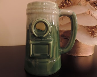 Beer mug.  Large Cup.  Pottery Canada. Beauce pottery. Vintage