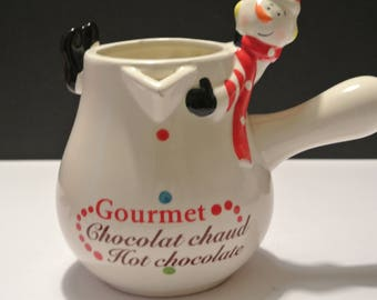 Hot chocolate pot - pitcher.