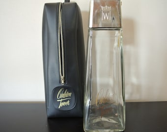 Bottle-whiskey-Carleton Tower-1966-rare-empty bottle-collection-case Carleton Tower