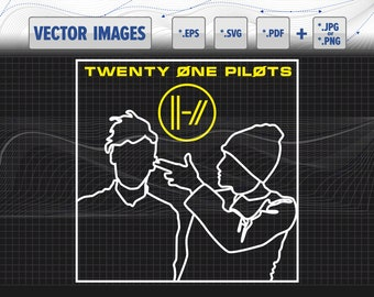 712703df09 Twenty one pilots guys vector graphic svg, dxf, eps, cdr(v12), pdf and png  for instant download