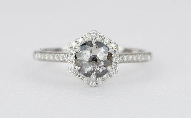 Solid 14k White Gold 0.98ct Round Eternity Diamond Engagement Wedding Band Engagement Rings Jewelry & Watches