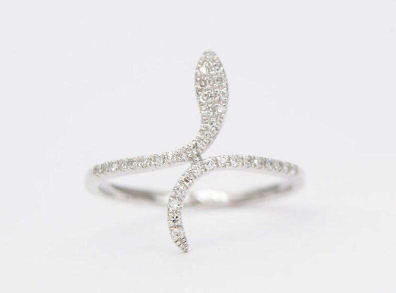 Diamant Micro Bague 14k NouveautéEtsy Pavé Serpent Or En k0w8OZPnNX