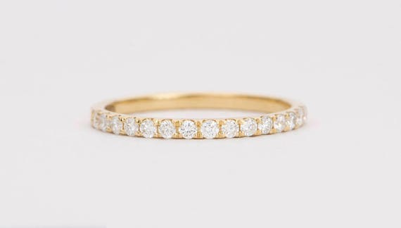 Black Diamond Eternity Ring-Sterling Silver Band empilable Différentes Tailles