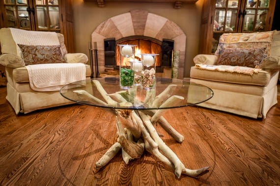 Stupendous Driftwood Coffee Table With 36 Round Glass Top Uwap Interior Chair Design Uwaporg