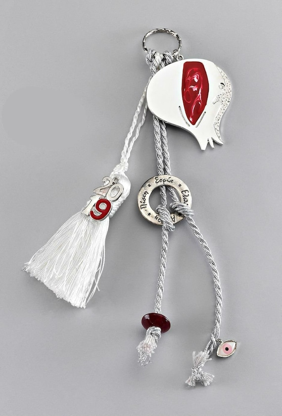 Unique Gift For Christmas.2020 Pomgranate Greek Wishes Gouri New Year Gift Ideas Christmas Gift Unique Gifts Good Luck For New Home Present Silver Keychain Style