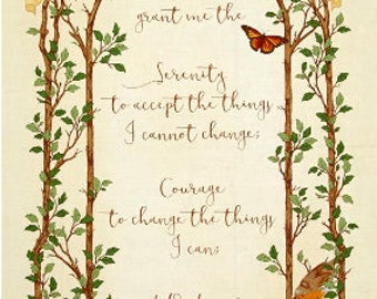 Quilting Treasures Serenity Prayer Cotton Panel