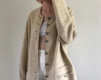 Boiled Wool Coat Etsy