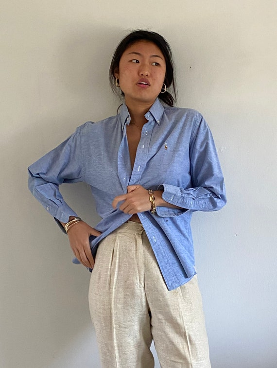 80s Ralph Lauren button down shirt / vintage baby… - image 7