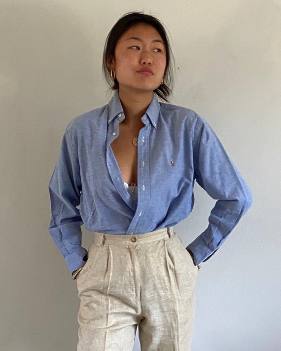 80s Ralph Lauren button down shirt / vintage baby