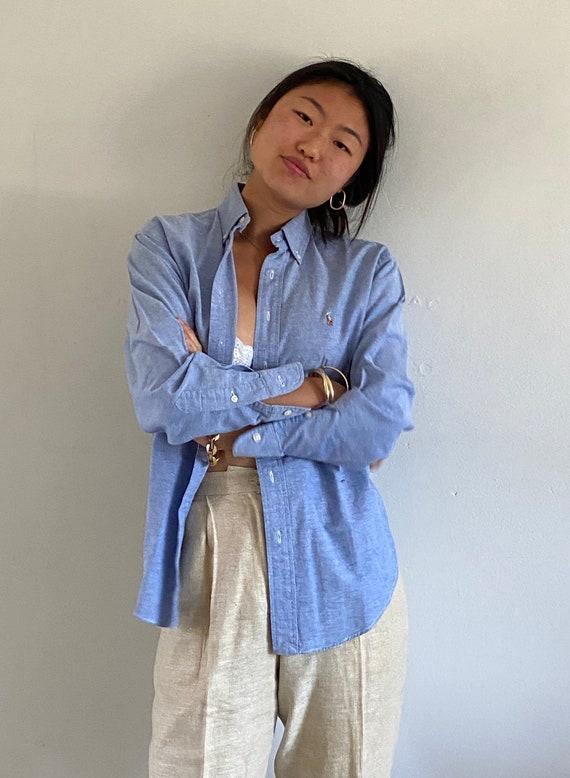 80s Ralph Lauren button down shirt / vintage baby… - image 1
