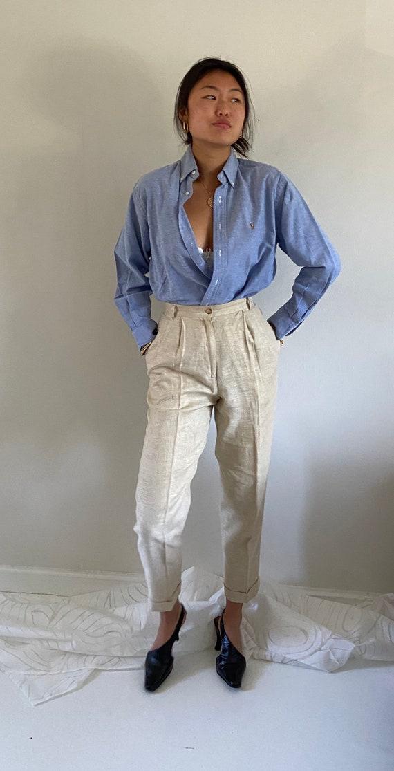 80s Ralph Lauren button down shirt / vintage baby… - image 9