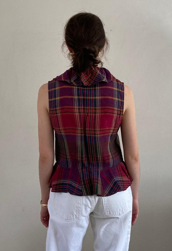 90s Ralph Lauren linen ruffle blouse / vintage ma… - image 5