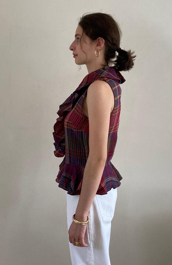90s Ralph Lauren linen ruffle blouse / vintage ma… - image 3