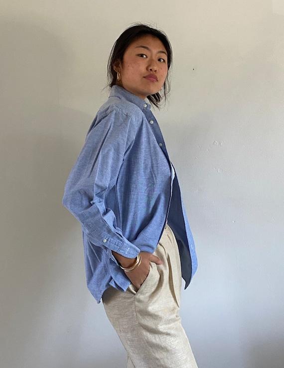 80s Ralph Lauren button down shirt / vintage baby… - image 4