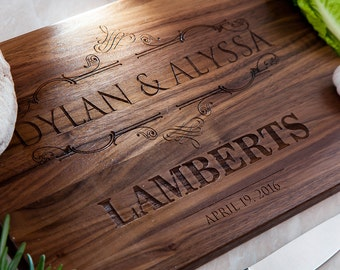 Personalized Cutting Board - Engraved Cutting Board, Custom Cutting Board, Wedding Gift, Housewarming Gift, personalized kitchen, Engagement