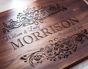 Personalized Cutting Board - Morrison, Wedding Gift, Engraved Cutting Board, Custom Cutting Board, Housewarming Gift, Anniversary Gift,