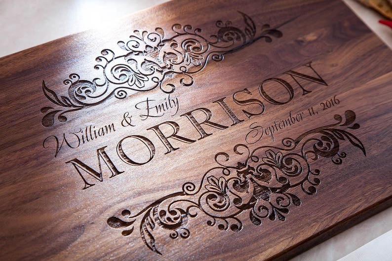 Wedding gift  Personalized cutting board  Bridal shower gift image 0