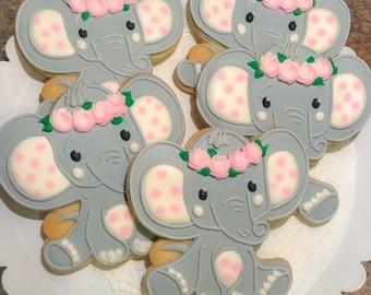 Baby Elephant Cookies