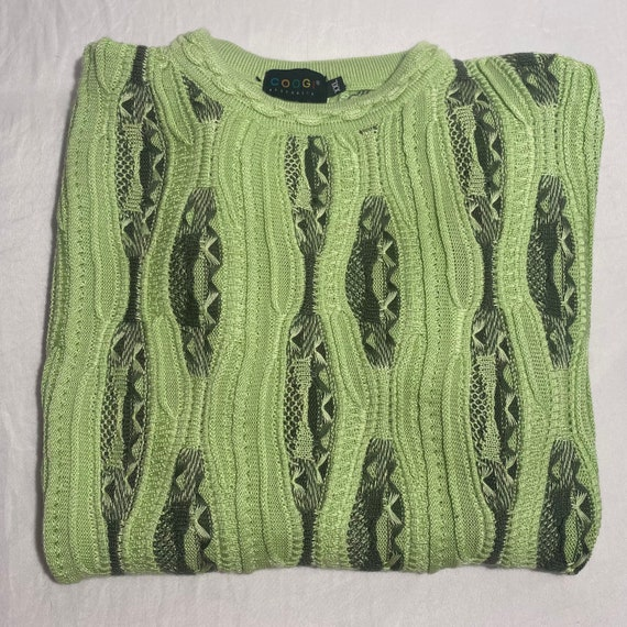 Vintage Rare Short Sleeve Lime Green Coogi Sweater