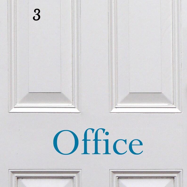 Office Sticker Office Door Decal Door Sign Vinyl Door Sticker Removable Vinyl Door Decal