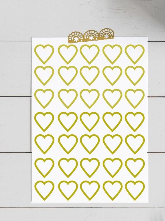 Gold Herz-Aufkleber Gold Umschlag Dichtungen Herz-Aufkleber   Etsy