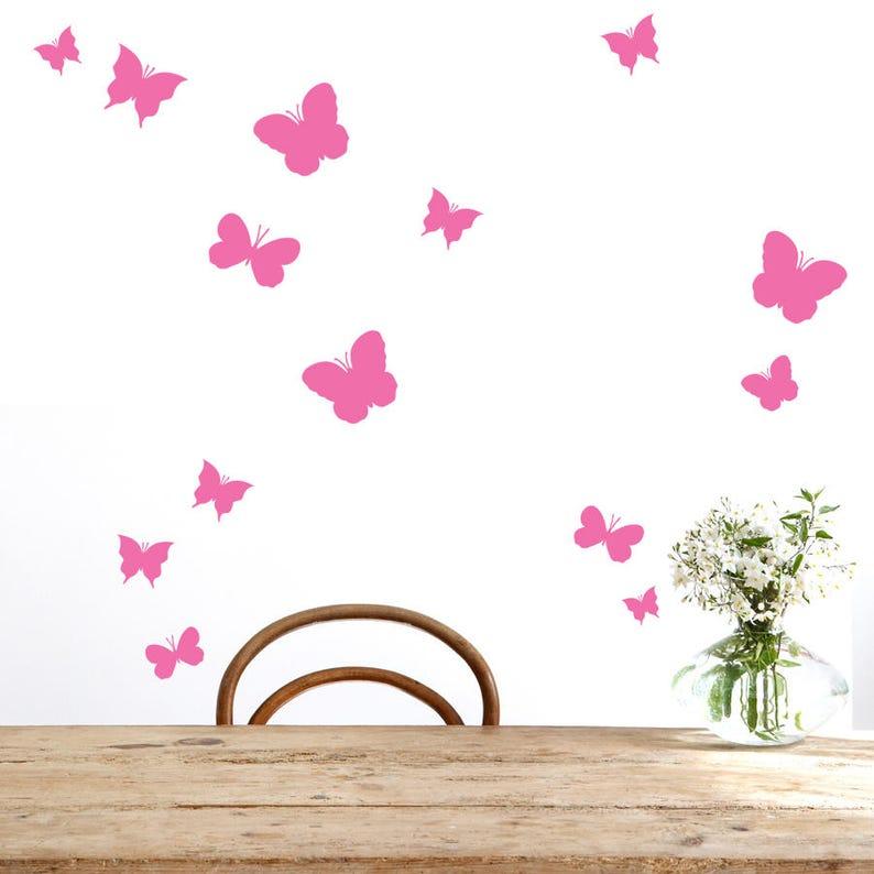 Schmetterlinge Vinyl Wand Muster Satz von 36 abnehmbare | Etsy