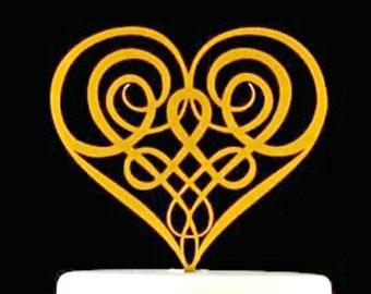 Irish Cake Topper, Irish Wedding, Scottish Cake Topper, Celtic Knot Topper, Scottish Wedding, Scottish Anniversary, Irish Anniversary