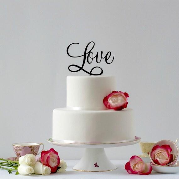 Love Cake Topper Wedding Cake Topper Modern Gold Cake Topper Cake Topper Ideas Boho Wedding Wedding Cake Topper Love Word Cake Topper