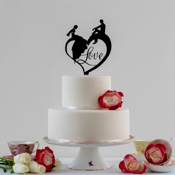 Cake Topper Ideas Bride And Groom Wedding Cake Topper Love Cake Topper Wedding Signage Cake Topper Wedding Wedding Decoration