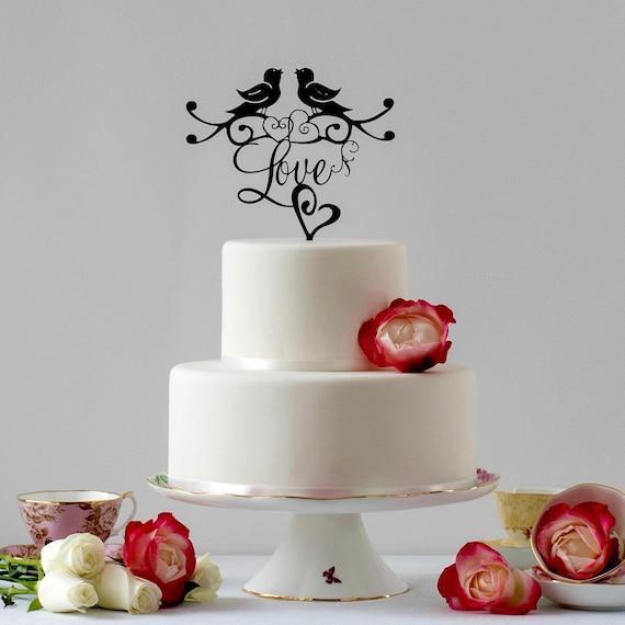 Liebe Vogel Hochzeitstorte Romantisch Kuchen Deckel Etsy