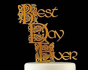 Irish Celtic Best Day Every Cake Topper