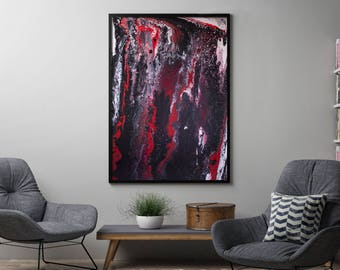 """Large Abstract Acrylic Painting -""""Shift"""""""