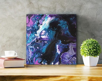 "Medium Abstract Acrylic Painting - ""Hippocampus"""