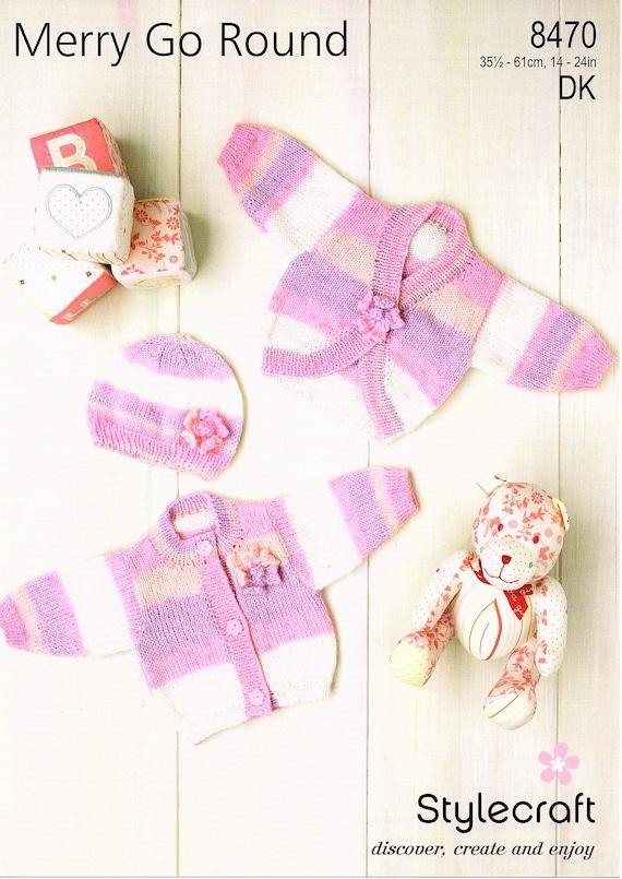 Free UK P/&P Mitts /& Booties Wondersoft Knitti... Stylecraft Baby Hats