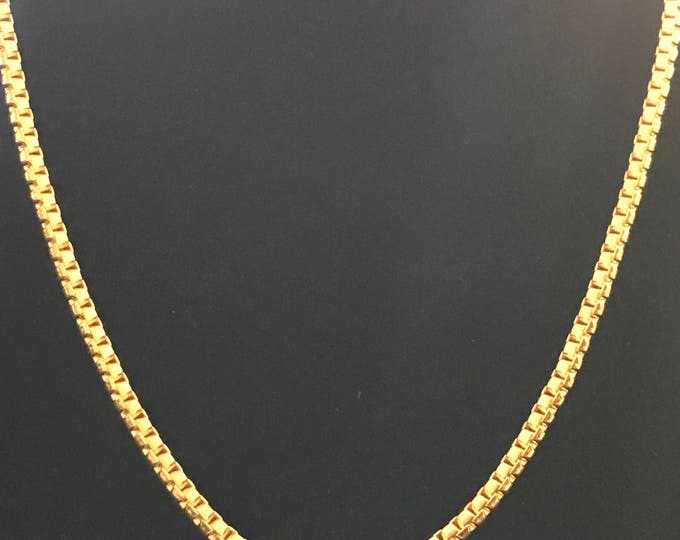 Fenton Fallon heavily gold plated box chain necklace