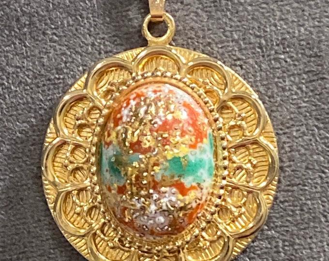 D&E Juliana Easter egg pendant necklace