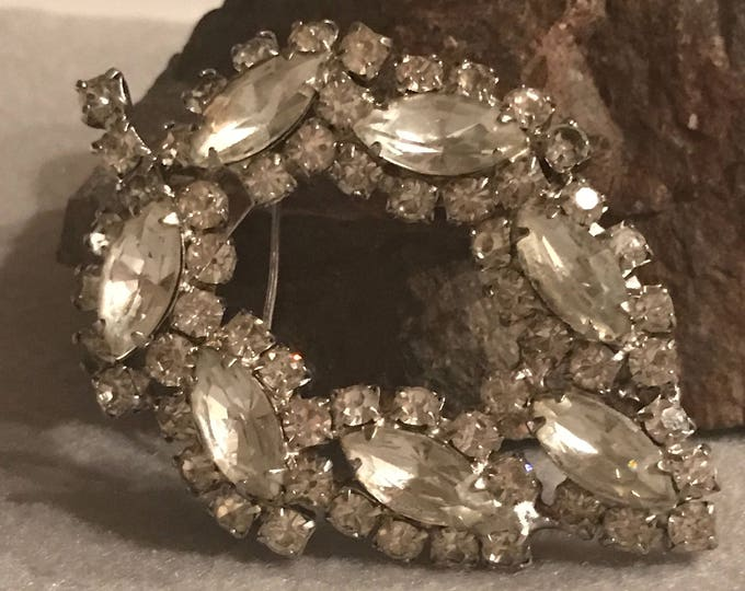 1940's era large Rhinestone brooch