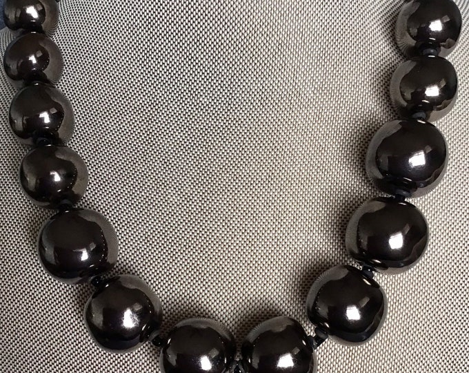 Large marcasite beaded necklace