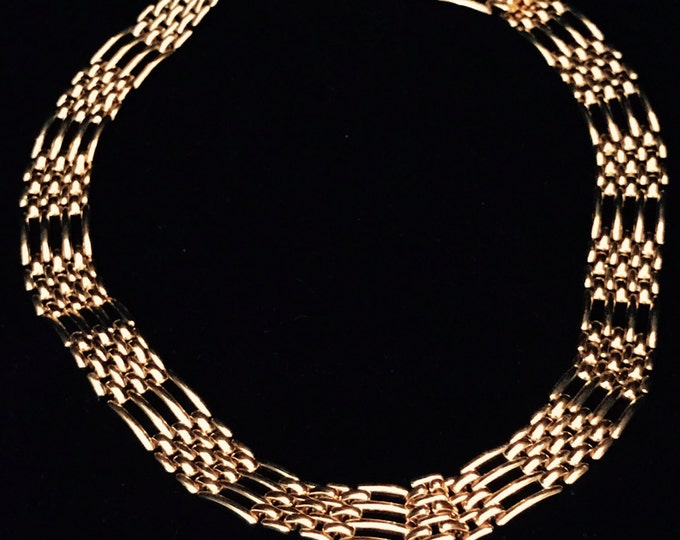 Napier heavy gold plated choker style necklace