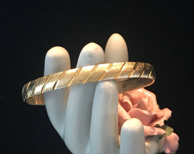 "Vintage gold plated ""Monet"" bangle bracelet"