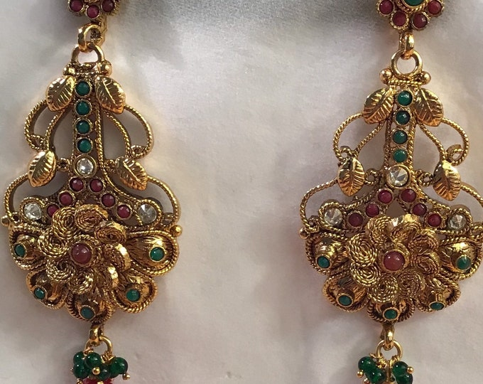 Edwardian era, chandelier pierced earrings