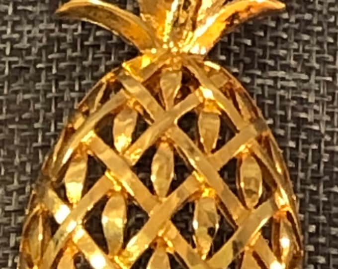 Vendome signed pineapple brooch